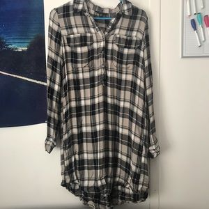 Long sleeve flannel dress